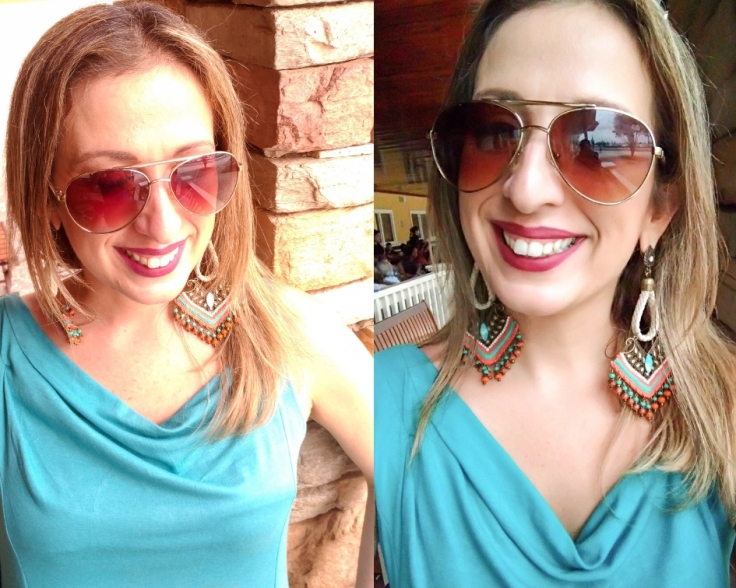 Brinco de croche com vestido azul (1)