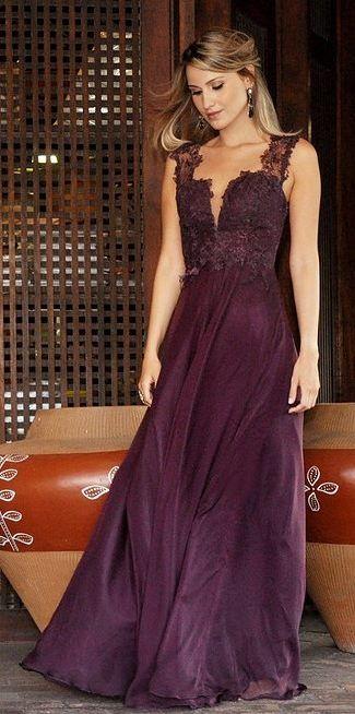vestido de festa roxo
