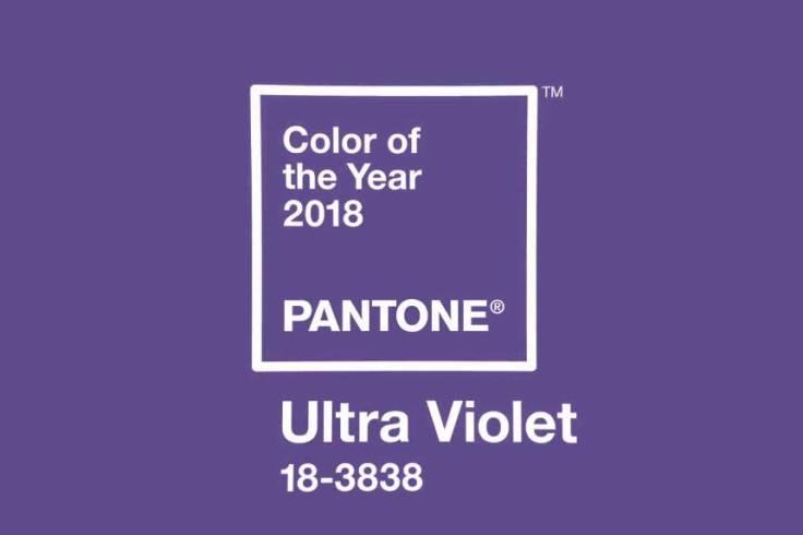 Cor eleita para o ano 2018 Ultra Violet pelo Instituto Pantone