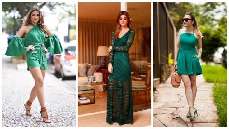 Vestido verde | vestido longo com rendas verde|  macaquinho verde  - Imagens Pinterest