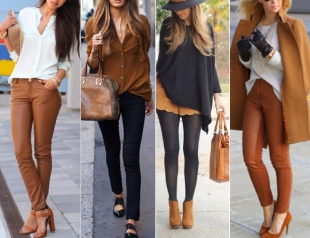Cartela de cores da mulher elegante- Tonalidades caqui e preto.