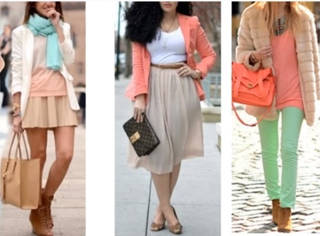 Paleta de cores estilo romantico