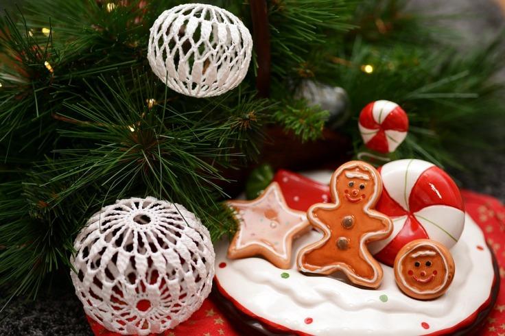 decoração natal com bolas de crochê