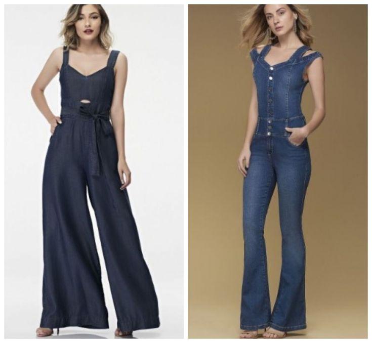 Macação jeans da DTA