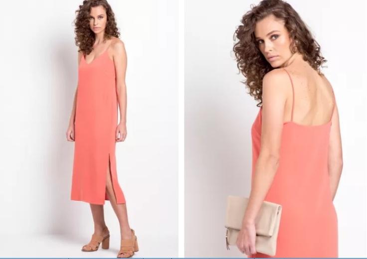 vestido coral mybasic