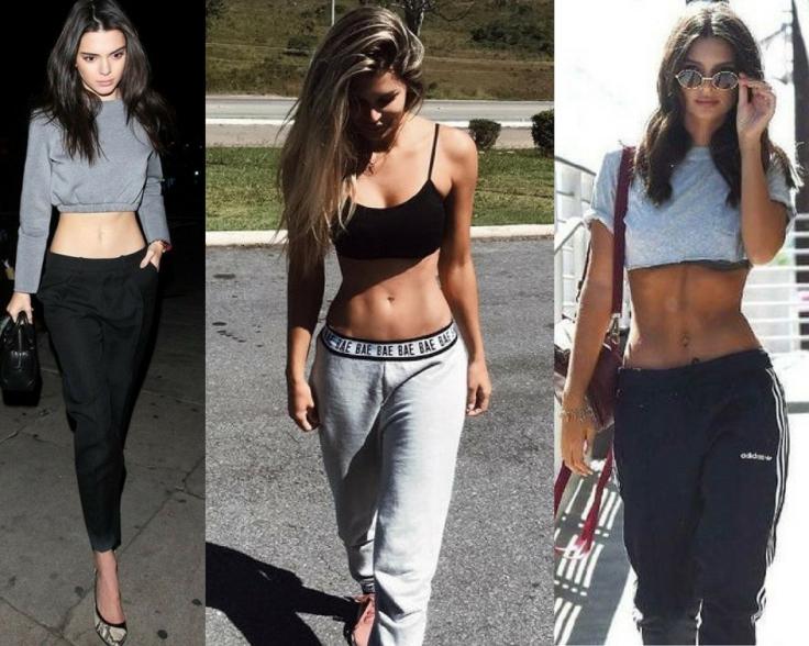 tendência da calça cintura baixa