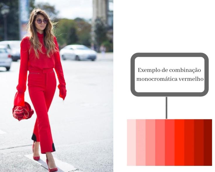 combinação monocromático vermelho