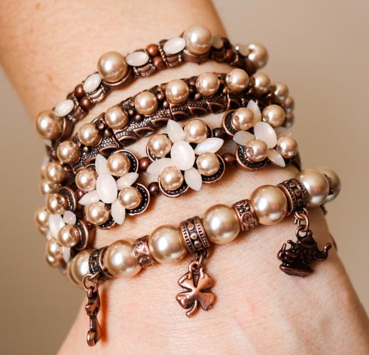 Mix de pulseiras pérola