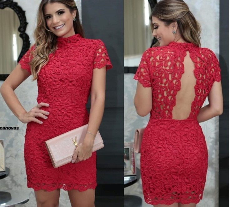 vestido vermelho curto