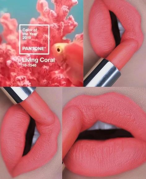 batom coral Pausas para feminices