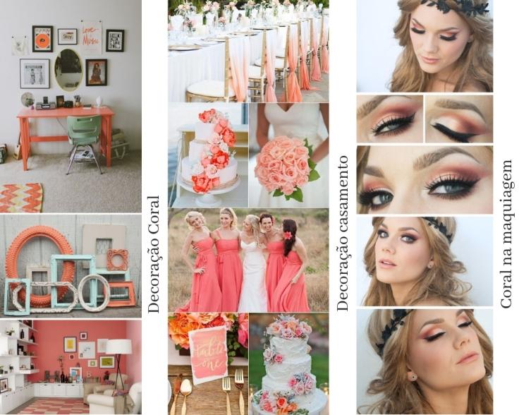 Decoração casa decoracao casamento e maquiagem coral