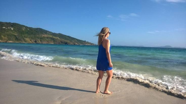 Saída de praia azul