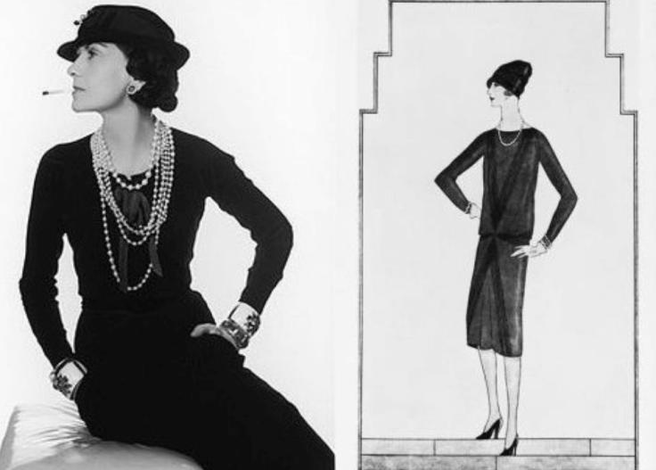 Vestido preto  da estilista Coco Chanel que saiu na revista vogue em 1926