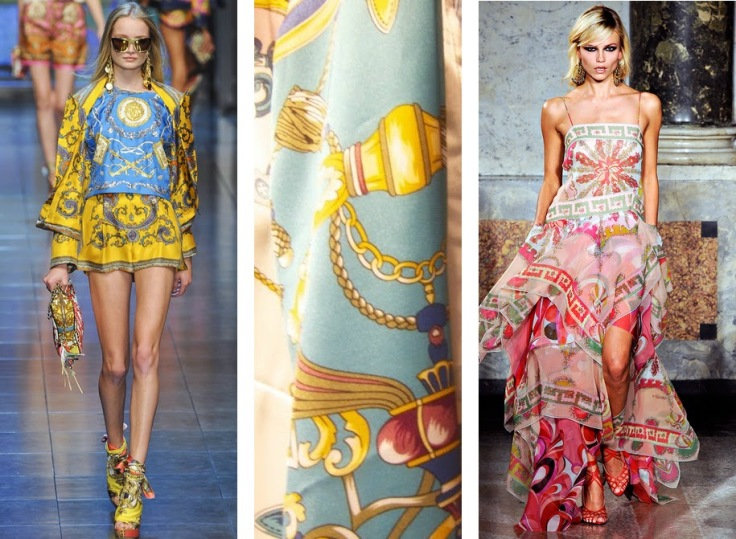 Estampa lenço desfile da Versace