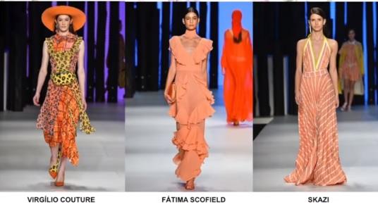 No Minas Trend 2018/2019 estilistas como: Virgílio Couture, Fatima Scofield e a Skaz, apresentaram algumas peças no coral.