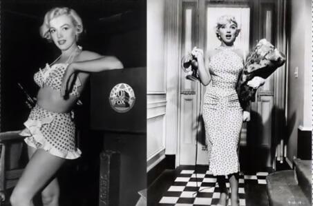 Pin ups da década de 50 - Estampa poá
