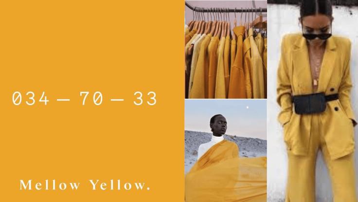 As cores que serão tendência para 2020  - Melow yellow